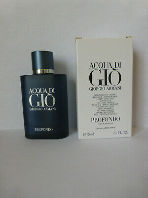 ACQUA DI GIO PROFONDO by GIORGIO ARMANI 2.5 oz 75 ml EDP SPRAY MEN NEW AS SHOWN