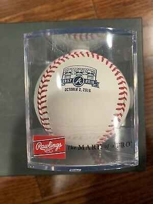 Atlanta Braves Turner Field Final Game Limited Edition Stamped Rawlings Baseball Final Game Baseball