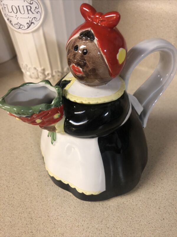 "Rare Vintage Mandy Ceramic Teapot Fitz & Floyd Omnibus Japan 6"""