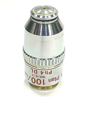 Nikon E Plan 1001.25 Ph4 Dl Oil Phase Contrast Microscope Objective - 100x