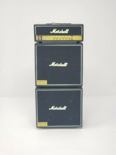 Marshall BLACK miniature amp. Miniature guitar amps. 3-PIECE stack. For DISPLAY