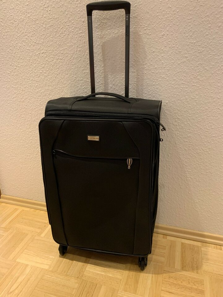 Koffer Trolley STRATIC UNBEATABLE M schwarz, 4 Rollen NEUWERTIG!! in Hessen - Eltville