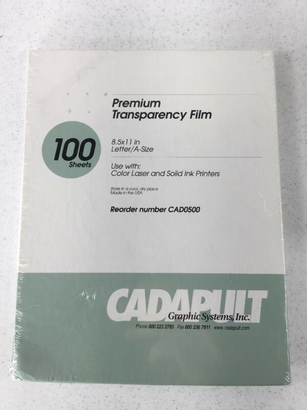Cadapult Graphic Systems Premium Transparency File 100 Sheets CAD0500 New