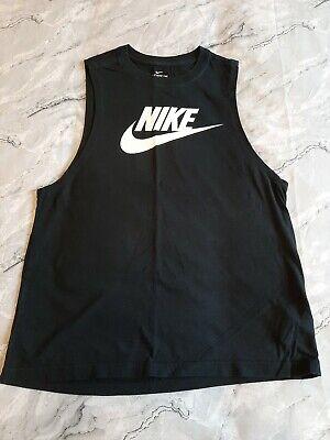 Ladies Black Nike Gym Top M (SIZE 12)