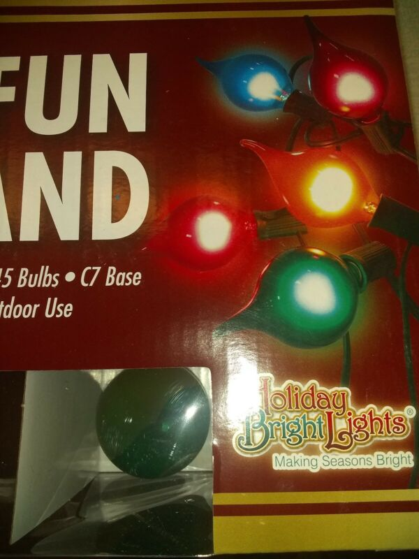 Holiday Bright Lights G45 OH WHAT FUN strand GRINCH