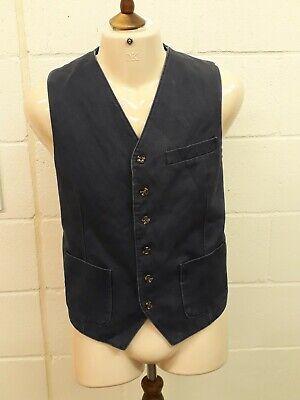 Joseph Abboud Waistcoat - Size L - Navy - Cotton
