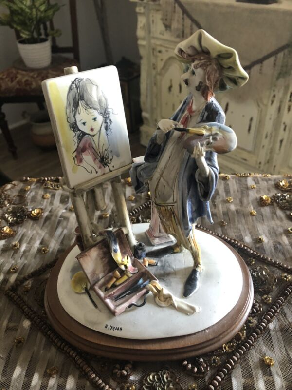 E Tezza Artist Figurine, Signed and made in Italy