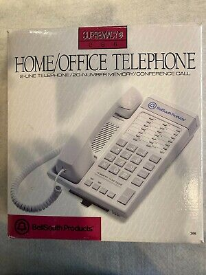 Vintage Bellsouth Supremacy 266 Homeoffice 2 Line Telephone W20 Number Memory