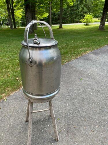 McCormick Deering IH 5 Gallon Stainless Steel Milk Can