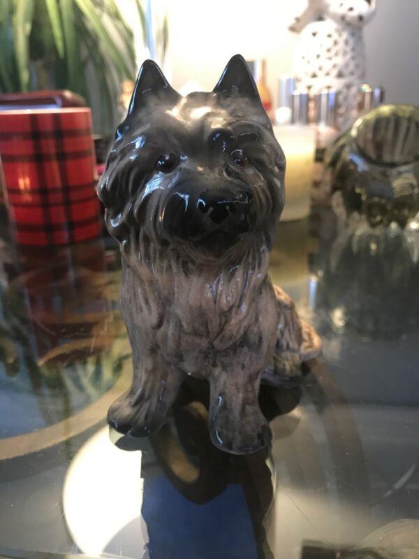 Vintage Sylva C Ceramics Figurine Yorkie/Carin Terrier Dog Made in England
