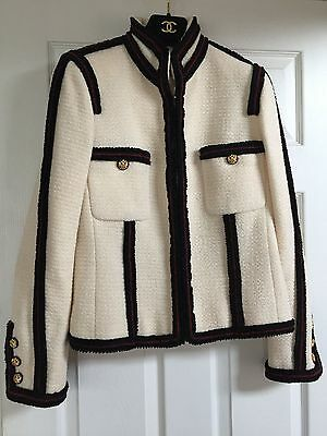 CHANEL 09A NEW PARIS-MOSCOW ECRU TWEED IMPERIAL CC BUTTONS JACKET FR42 $8K