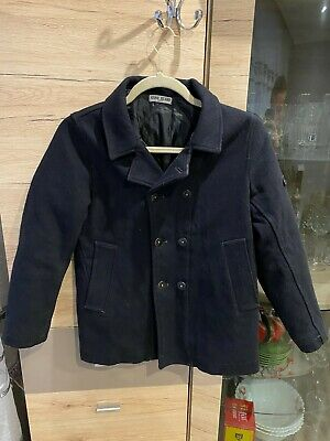 Stone Island Junior Wool Coat Quilted Jacket Boys Size - 10 Years (140cm)
