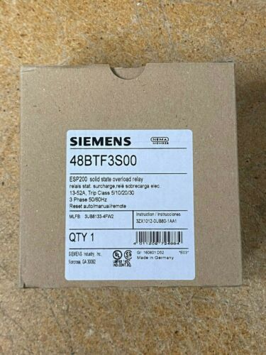 SIEMENS 48BTF3S00 ESP200 solid state overload relay - 13-52AMPS