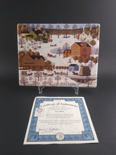 Charles Wysocki Fox Run First Issue Plate Wall Plaque Bradford Exchange with COA