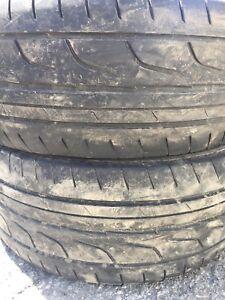 225/45R17 Bridgestone 2 pneus d'été 80$