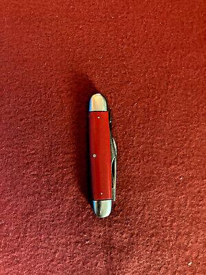 Old Cattaraugus Red Handle Stockman 3 Blade Jack Pocket Knife