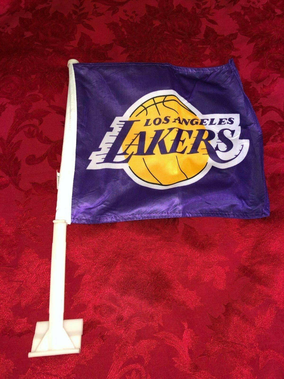 los angeles lakers car flags purple