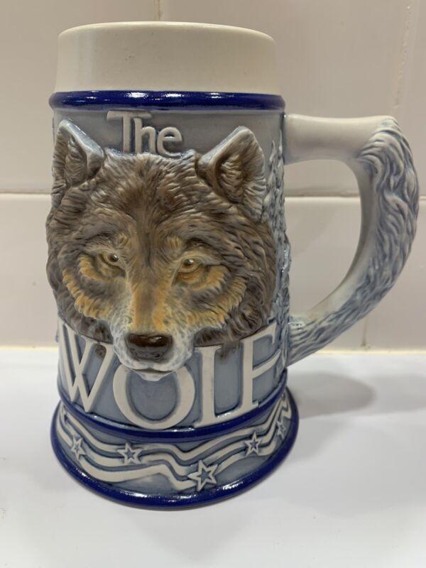 "Avon American Animal Stein ""The Wolf"" Tom O Brien Stein / Mug"
