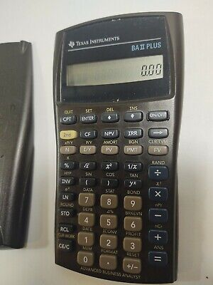 Texas Instrument BA II Plus Calculator Accounting Financial Business Analyst 2