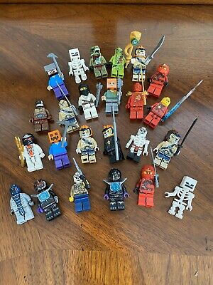 LEGO LOT OF 25 MINECRAFT, NINJAGO, MISC MINIFIGURES TOY FIGURES