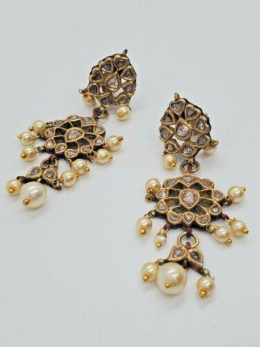 18KT GOLD KUNDAN UNCUT DIAMOND POLKI  EARRING