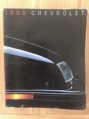 RARE '89 CHEVROLET USA BROCHURE Camaro Caprice Cavalier Corvette Blazer Suburban