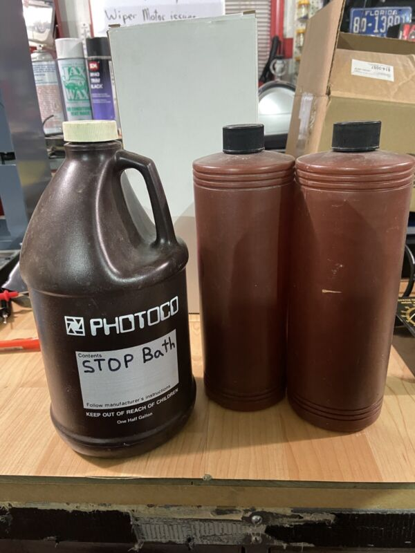 darkroom chemical containers
