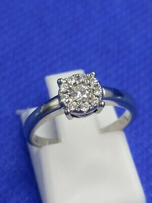 9 carat White Gold 0.25 Carat Diamond Ring Size I  1.9g