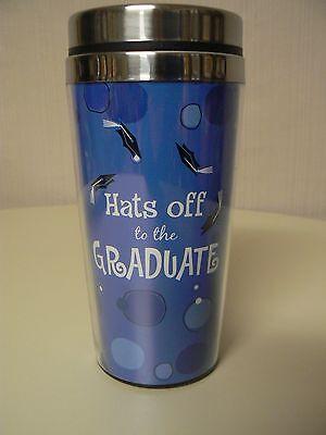Ganz HATS OFF TO THE GRADUATE Travel Mug #EM17742 NEW Graduation Gift Idea