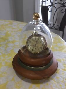 HAMILTON 912 GOLD FILLED POCKET WATCH WITH HOLDER