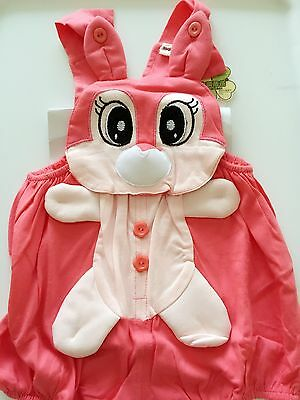 Bull Costume For Baby (Baby Kids Girl Child Easter PINK Bunny Rabbit OR Pig Party Costume Romper Prop)