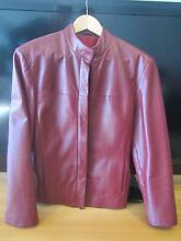 Burgundy  Italian leather jacket for women Mascot Rockdale Area Preview