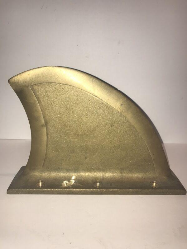 Vintage Ski Boat Brass Fin