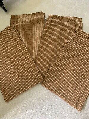 Home Collections By Raghu 60 X 34 Drapery Curtain Butterscotch Tan 4 Panel Lot