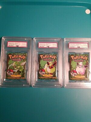 pokemon 1st edition jungle pack psa 10 (set)