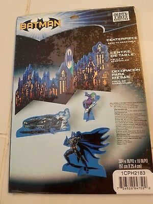 BATMAN PARTY TABLE CENTERPIECE PARTY EXPRESS HALLMARK 2001 FACTORY SEALED NEW](Batman Centerpieces)