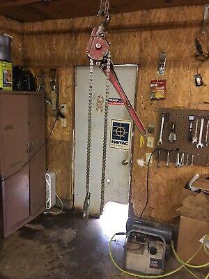 Coffing 3/4 To 1 1/2 Ton.  Lever Chain Hoist Come Along. Good Shape  (004 Coffing Lever Hoist