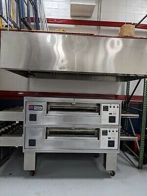 Pizza Oven Middleby Marshall Ps570 Double Deck Natural Gas Conveyor Oven