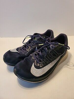 K5 Nike Zoom Fly Mens Running Shoes Obsidian / White 880848 405 size 10.5