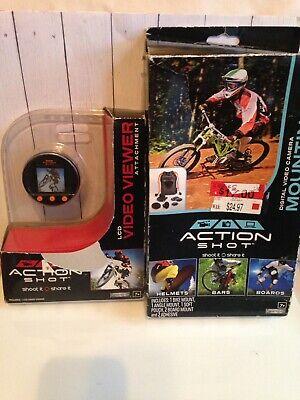 Action Shot Digital Video Camera Mounting Kit & LCD Video Viewer set new-Jakks