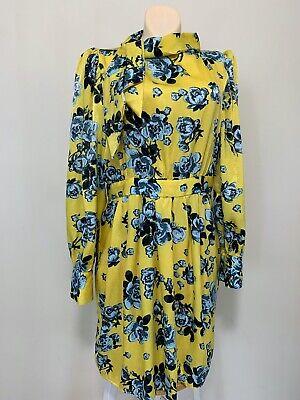 NWT Zara  FLORAL PRINT DRESS Multicolor YELLOW SIZE L #C213 8370 571 300