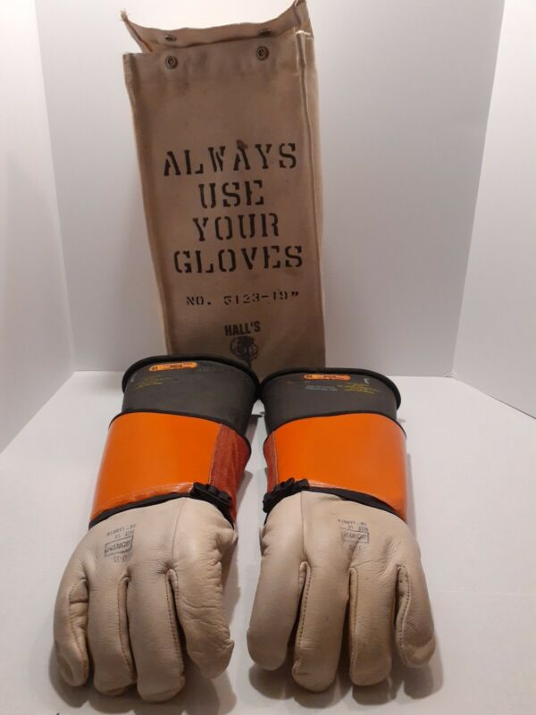 North National Safety Rubber Voltage Insulating Gloves Electrical Lineman