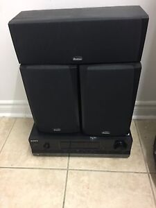 SONY AMP WITH BOSTON SPEAKERS  West Island Greater Montréal image 1