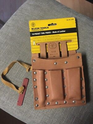Klein Tools 5190 Leather 10 Pocket Tool Pouch - New