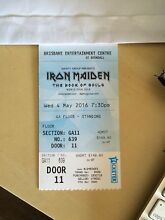 Iron maiden 1x GA standing (front section) HARD COPY Burleigh Heads Gold Coast South Preview