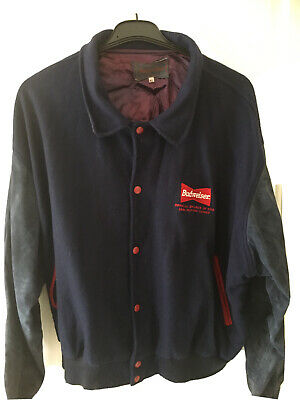 Budweiser Vintage Atlanta 1996 Olympic  Wool / Leather Letterman Jacket •XL• 90s