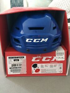 CCM HTRes 300 Helmet (size large), blue in colour.