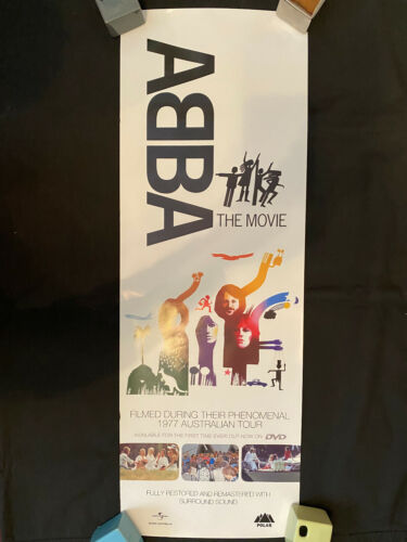 ABBA The Movie on DVD Australia promo rolled poster 39x13.5