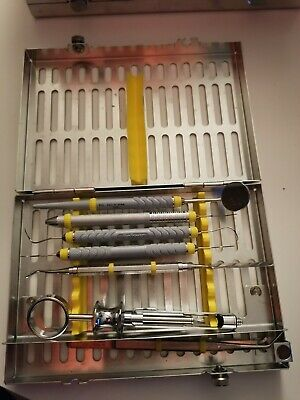 Hu Friedy Dental Exam Cassette With Instruments