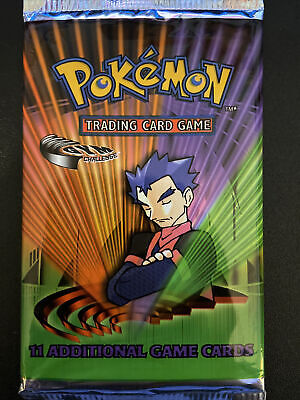 POKEMON GYM CHALLENGE BOOSTER PACK UNWEIGHED SEALED